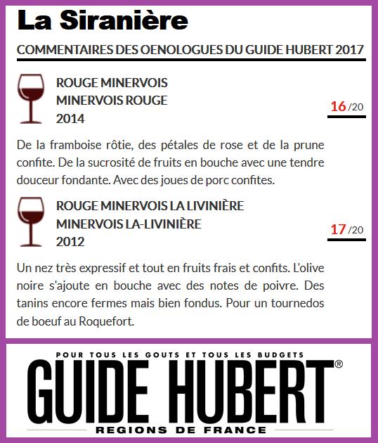 guide hubert 2017 la Siranière